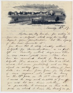 TR Roberts to Henry Wise letter