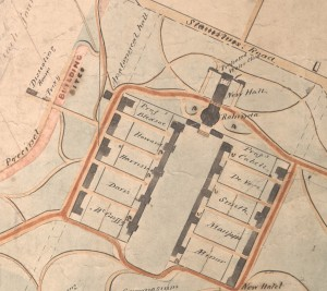 Plan of University Cleared Land by William Pratt 1858