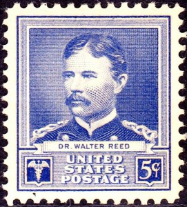 Walter Reed 5-cent postage stamp