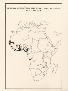 African Localities Reporting Yellow Fever 1900 to 1931