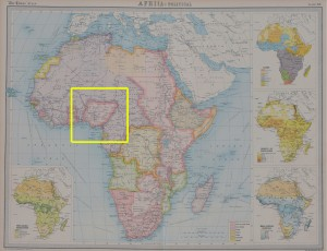 Map of Africa 1923 Atlas