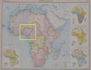 Map of Africa 1923 Atlas