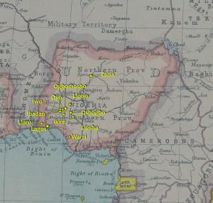 Nigeria 1923 Atlas (w/ townships)