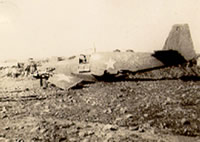 Downed plane near Salerno, Italy
