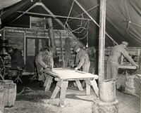 The Utility Section of the 8th Evac: Carpentry, Welding and Blacksmithing