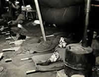 casualties in receiving tent