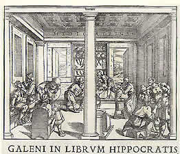 Woodcut illustration from a Venetian edition of Galen's works