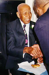Herman Shaw, Tuskegee Study participant, after the White House ceremony.
