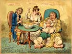 caricature: Punch cures the Gout, the Colic, and the 'Tisick