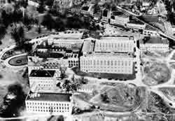 Aerial view of the Hospital Complex, 1929