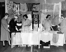 Hospital Auxiliary sale held in the early 1950s.