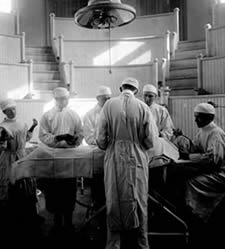 Operating Theater, First Hospital Building, 1913.