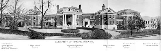 Panoramic photograph of the Hospital, ca. 1929.