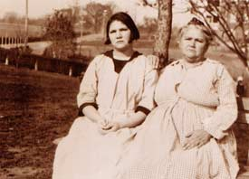 Photograph of Carrie and Emma Buck at the Lynchburg Colony. Courtesy of M.E. Grenander Department of Special Collections, State University of New York at Albany.