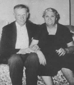 Photograph of Carrie Buck with her second husband, Charlie Detamore. Image from The Lynchburg Story, a film distributed by Filmakers Library, produced in association with Discovery Networks/USA, producer, Bruce Eadie, director, Stephen Trombley, 1993.