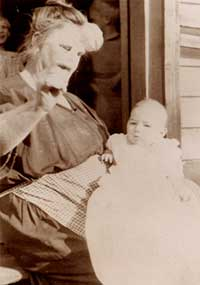 Photograph of infant Vivian Buck and nurse. Courtesy of M.E. Grenander Department of Special Collections, State University of New York at Albany.