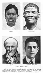Faces and Races Illustration. Courtesy of Special Collections, Pickler Memorial Library, Truman State University.