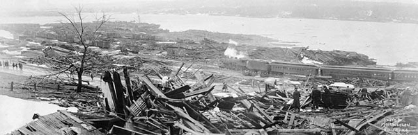 Halifax harbor after the explosion