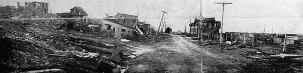 Damage at the extreme north end of Campbell Road