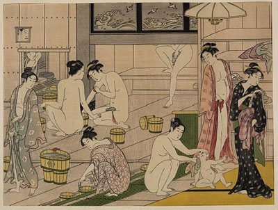 Bathing Customs in Japan, Middle East, and Eastern Europe