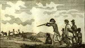Captain Lewis Shooting an Indian