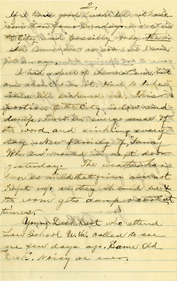 Hot Springs Letter From G W Banks To Genie March 14