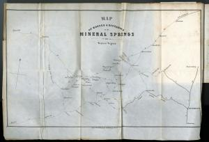 Map of Routes & Distances to the Mineral Springs of Western Virginia {5}