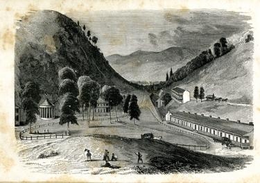 The frontispiece is from A Visit to the Red Sulphur Spring of Virginia, during the Summer of 1837 by Henry Huntt published in Boston by Dutton and Wentworth in 1839.