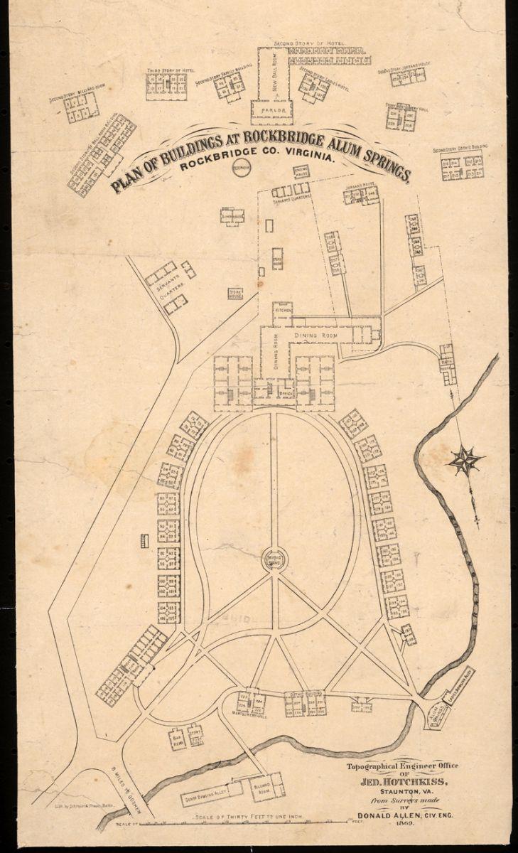 Rockbridge alum springs plan of buildings 1869