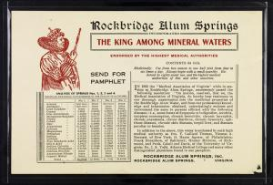 Rockbridge Alum Springs: The King among Mineral Waters {4}