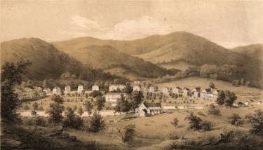 Edward Beyer's print of Sweet Springs published in 1857. {1}