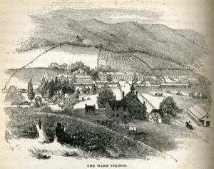 The Warm Springs as drawn by Porte Crayon in 1857. {2}
