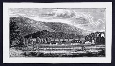 Henry Howe, Woodblock Print of Views of White Sulphur Springs [manuscript] 1845, Special Collections, University of Virginia Library.