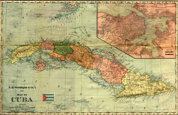 Army surgeon general george sternberg on typhoid fever and the spanish american war a map of cuba gumiabroncs Images