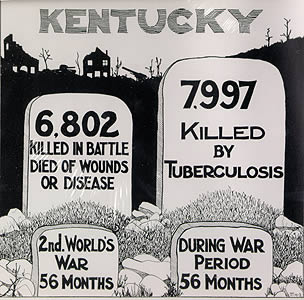 Kentucky TB Association Flyer: The War Against Tuberculosis is Not Over, 1940s.