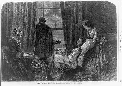 """""""Scene d'octobre: la jeune pointrinaire,"""" Le journal illustre, no. 34, Octber 2-9, 1864, p. 269"""