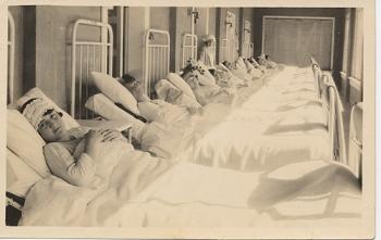 Girls on porch, State Tuberculosis Sanatorium, Sanatorium, Texas, c. 19--