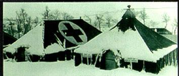 Winterized tents of the 8th Evacuation Hospital, Pietramala, Italy
