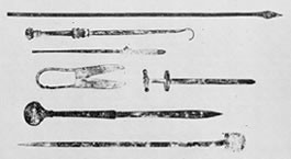 Replicas of ancient surgical instruments donated to the University Library's Special Collections