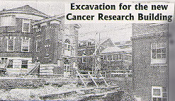 Excavation for the new Cancer Research Building begins