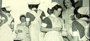 Capping Ceremony for Nursing School Class of 1950