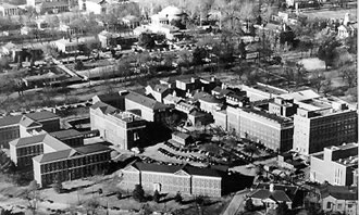 Aerial view of UVa Medical Complex