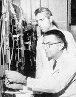 Dr. William Parson and Dr. Kenneth Crispell in Research Labs