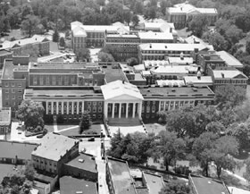 View of UVa Medical School and the corner