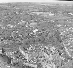 Aerial view of the University in 1968