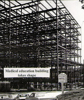 The Medical Education Building takes shape