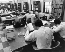 Medical Students in the Library's Reading Room
