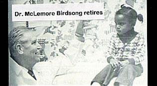 Dr. McLemore Birdsong retires
