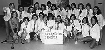 The Spermatic Chords, an a capella chorus formed by the women of the School of Medicine Class of 1986