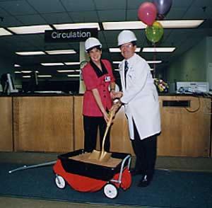 Linda Watson and Robert Carey  initiate library renovation